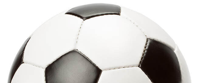 top of soccer ball design element